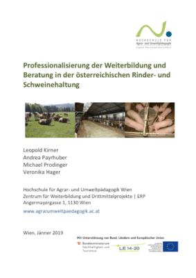Professionalisierung der Weiterbildung und Beratung in der österreichischen Rinder- und Schweinehaltung