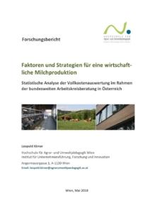 KIRNER: Vollkostenauswertung Milchproduktion Studie