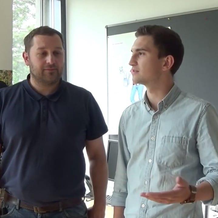 Studenten der Agrarpädagogik werden interviewt