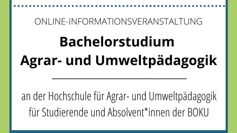 ONLINE Infoveranstaltung für BOKU Studierende/Absolvent*innen 11. März